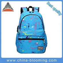 Fashion Leisure Blue Nylon Waterproof Travel Bag Shoulder School Students Backpack For Women