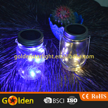 Mason Jar Manufacturer Solar Mason Jar Light Lid for Garden Lawn Lighting