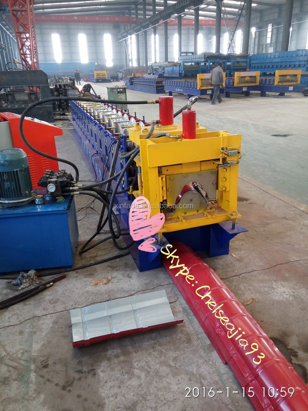 Glazed Tile/ ridge cap/metal roofing roll forming machine
