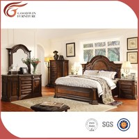 Cheap hand carved solid wood bedroom furniture WA150