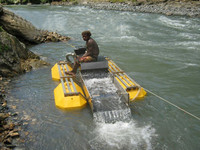 Mini Gold Suction Dredge Boat For Sale