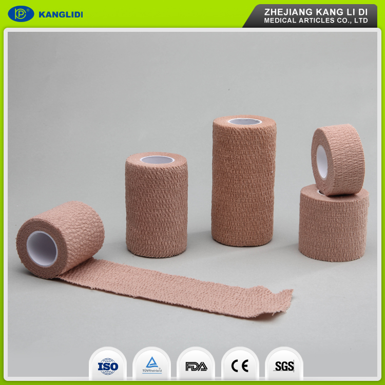 KLIDI High Quality Strong Fabric Cotton Elastic Self Adhesive Bandage Factory From China