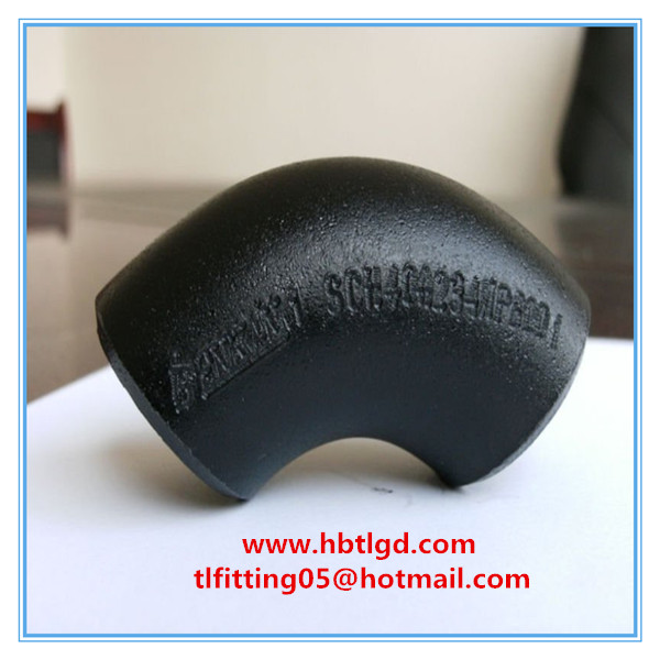 ASME B16.9 45 degree seamless carbon steel elbow /bend/reducer/cap/flange with good quality
