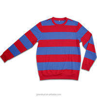 Sports red mens sweater, football club team best cashmere sweaters, cheap knit sweater wholesale