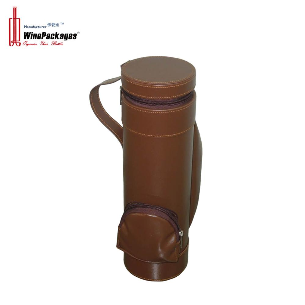 Custom packaging for single leather wine carrier