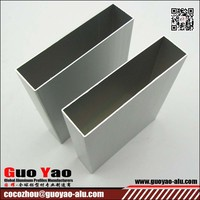 anodized brushed extruded aluminum square tubing/piping aluminum profile tubing