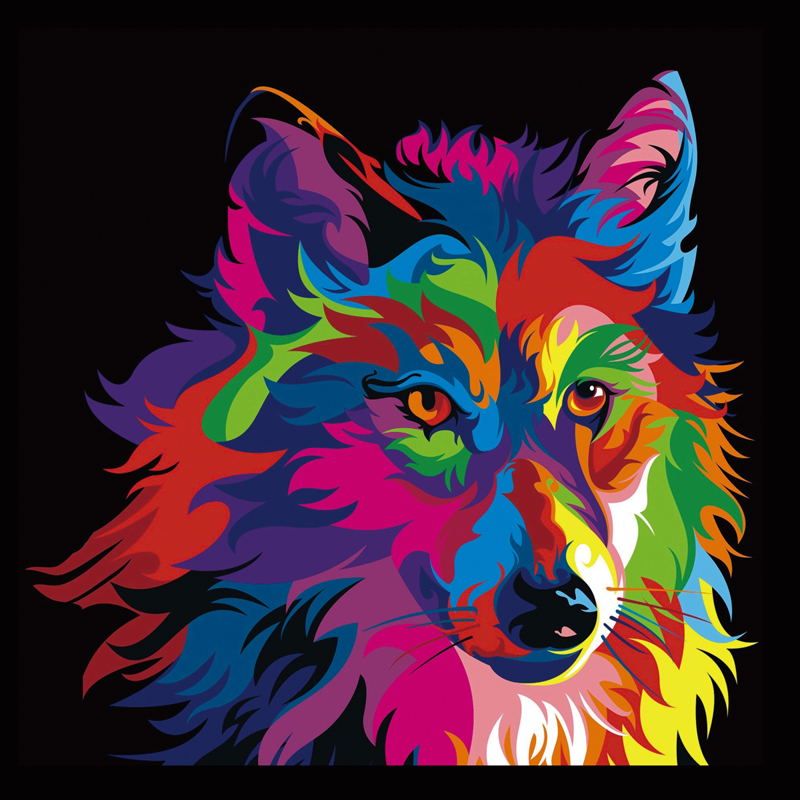 Diamond painting diy Animal wolf english sexy 3d <strong>picture</strong>