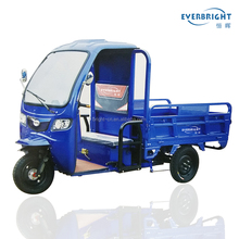 EVERBRIGHT China three wheel cargo motorcycle tricycle with enclosed cabin box for sale