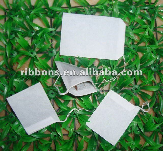 Empty Natural Biodegradable  Pyramid Filter Paper Green Tea Bag Pouch