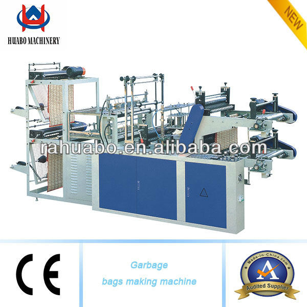 plastic two layers rolling bag making machine