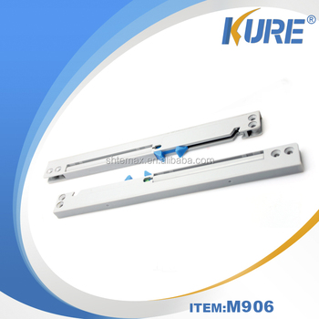 Plastic soft close soft close system for sliding door