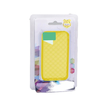 Custom printed insert sliding clear plastic phone case packing full color blister cards