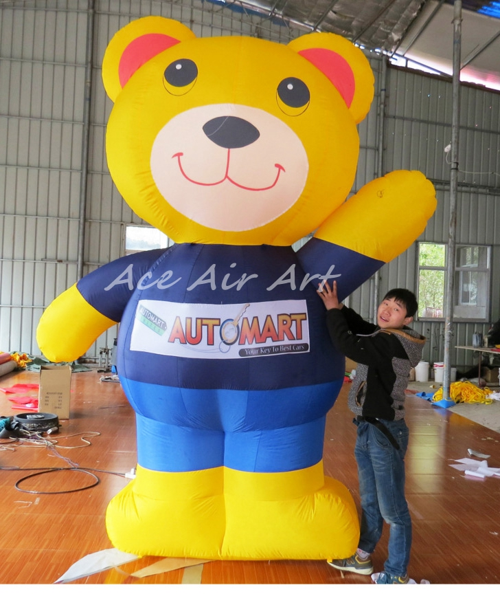 big cartoon figure 3m H Advertising Inflatable Winnie Bear the Pooth For Event