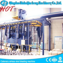 Piled and Released Type sand blasting machine /overhead rail system