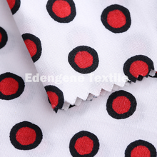 40s 100 % cotton red dot printing poplin woven fabric