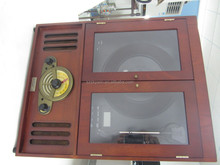 Portable Retro wood turntables for lp records with USB turntable player