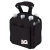 neoprene 6-pack beer bottle cooler/six pack beer tote bag