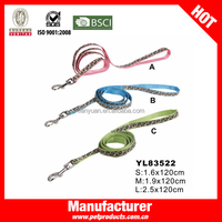 Hot Selling Nylon and PU Leather Straps For Dog Leash