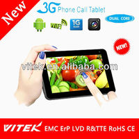 Dualcore 7 inch Android Tablet PC 3G TF Card