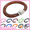 Top sale magnetic mesh clasp charm rhinestone bangle for women