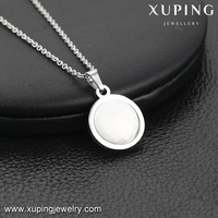necklace-00161 Xuping pocket watch shape brand necklace round mirror strap trendy jewellery