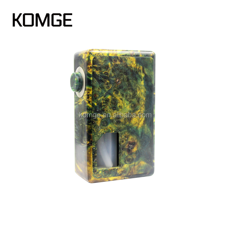Komge Technology 100% Original Keel Mod Stab Wood Electronic Cigar Vaping Mech Mod