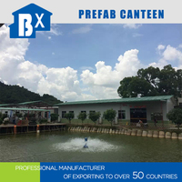 Steel frame structure prefab canteen building