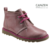 sweet pink girls pu shoes