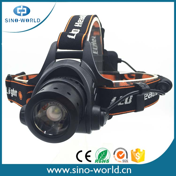 Best Selling 10W Rechargeable LED Zoom High Power Headlamp
