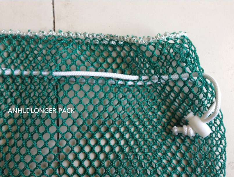140gsm strong drawstring net mesh laundry bag