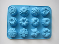 12 Cavity Silicone Flower Cake Mold Baking Mould FDA LFGB