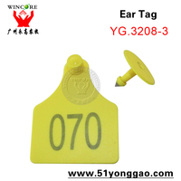hign quality animal tracking plastic large size ear tag for cattle