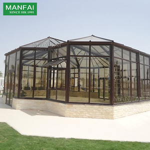 various styles customized prefabricated glass house