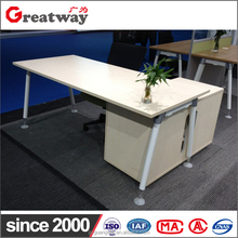 MFC modern office table for general manager with side cabinet