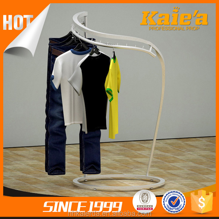 Durable clothing show racks, display racks t shirt