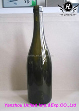 Wholesale 750ml Dark Green Glass Bottle Of Red Wine