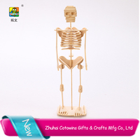 High-quality skeleton model wooden block adults unique puzzle toy art home decor