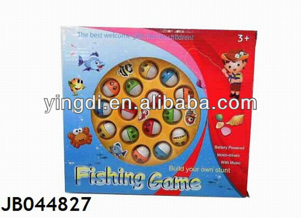 Battery Operated kids magnetic fishing game toys JB044827