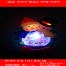 Christmas inflatable lovely snowman,customized inflatable snowman for party decoration