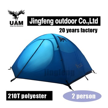Waterproof 2 person tent for Polyester camping tents
