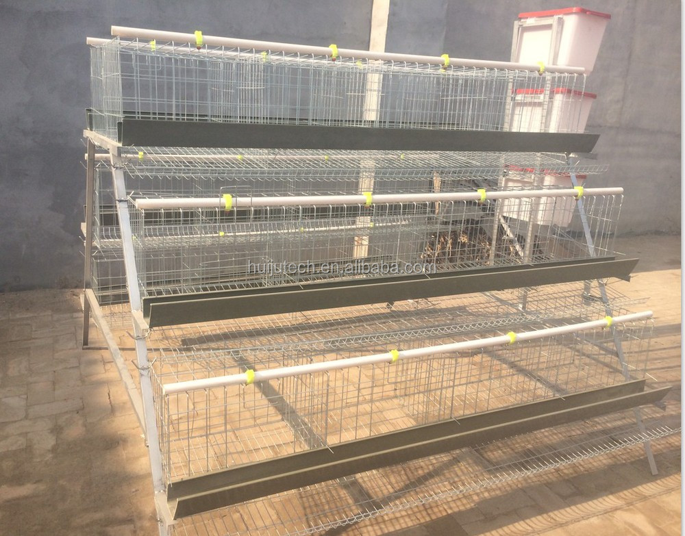 Galvanized Wire Cage Build Chicken Coops 3 Layer Cage