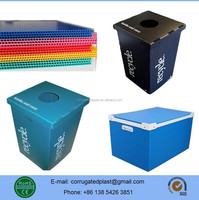 White/Blue/Yellow/Black/Transparent Color Polypropylene Corrugated Plastic Boxes