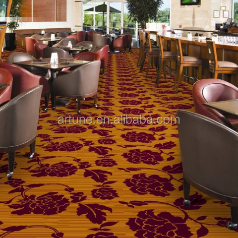 Small and nice floral pattern base corridor wall to wall nylon printed carpet