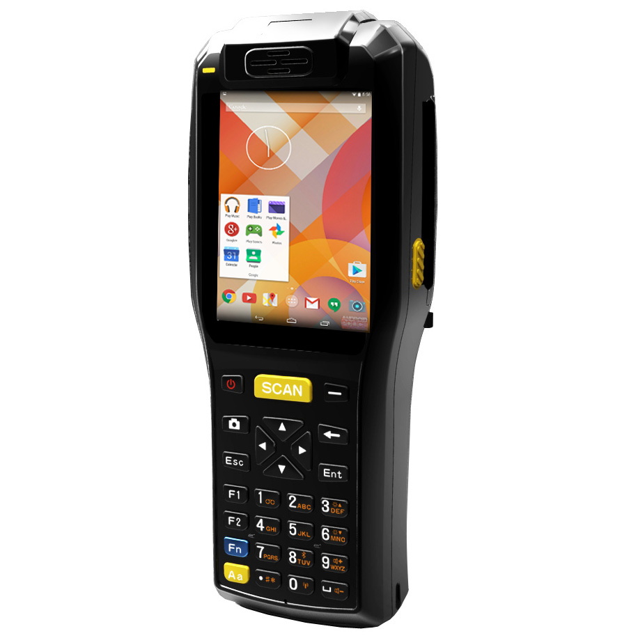 3.5 inch Android Wireless Barcode Scanner with Printer,handheld PDA,Mobile Data Terminal ZKC3505