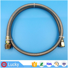 High Pressure Non-ageing Flexible SUS304 Stainless Steel Wire braided Teflon PTFE Pipe and Connectors in Roll for Gas Hose