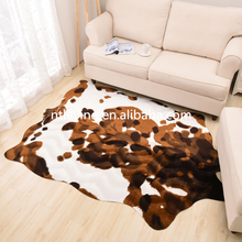 High quality printed artificial fur cowhide rug carpet cow hair on hide ,cow print rug and carpet LY0CR015