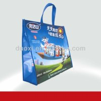 Laminated non woven long strap durable tote bags for milk packing 100% manufacturer