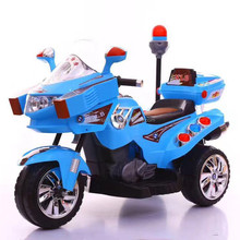 police battery operated motorcycle, kids electric motorbike ride on toy for toddlers