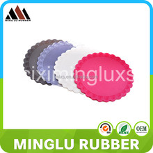 Gift printied rubber jar gripper,High Quanlity PVC cup coaster,cheap promotional pvc coasters