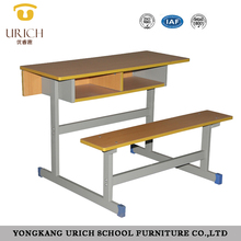 Conjoined school desk and stools double school desk student school desk and chair classroom furniture sets